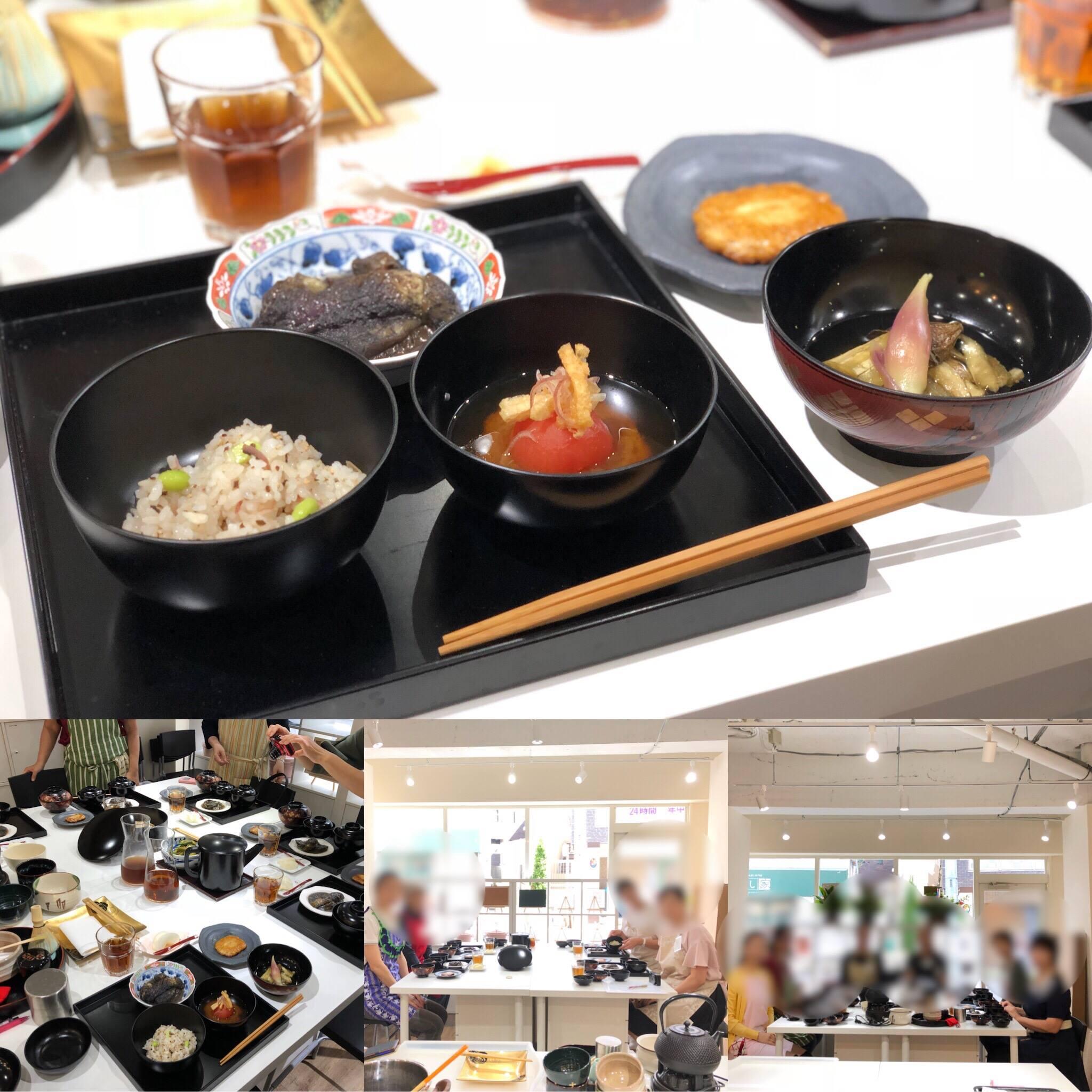 (和ごはん研究会)-活動報告-2018年8月茶懐石精進料理教室を開催しました!