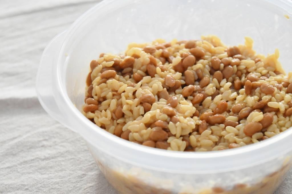 (発酵食研究会)-レシピ-シンプル糀納豆