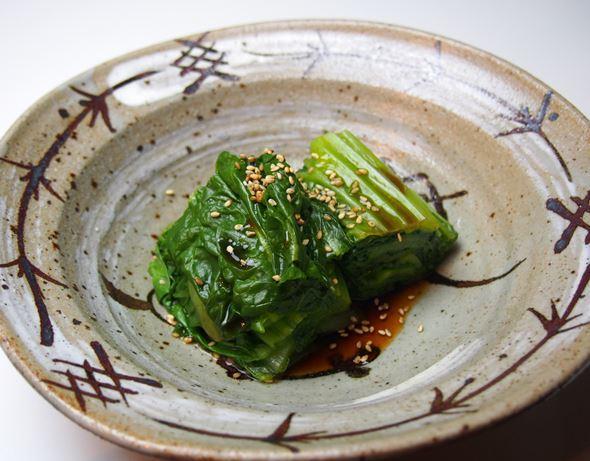 【レシピ】高菜のシャッキリお浸し
