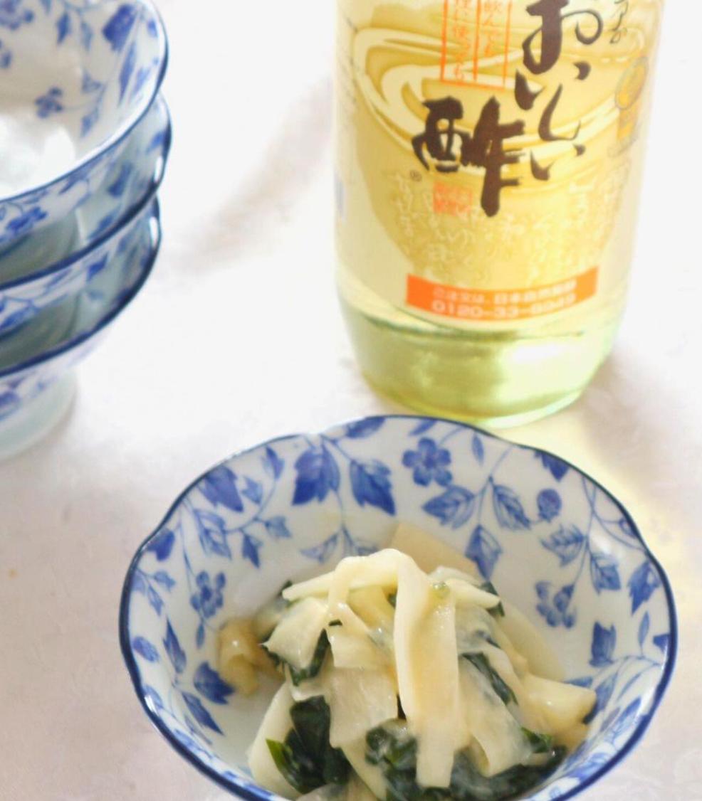 (レシピ)独活の酢味噌和え