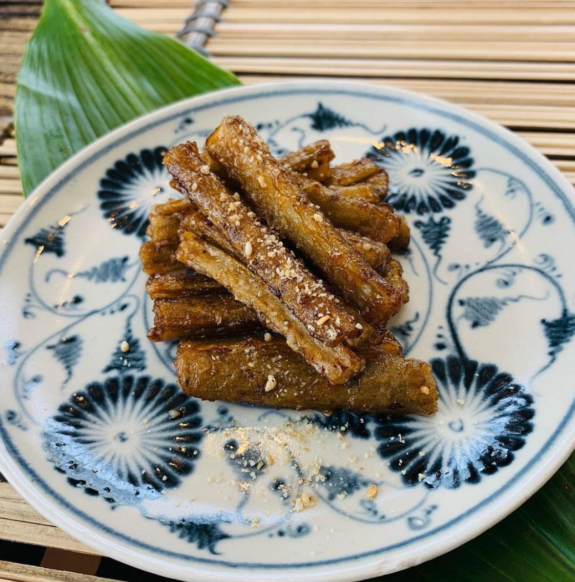 (レシピ)カリカリごぼうの甘酢炒め
