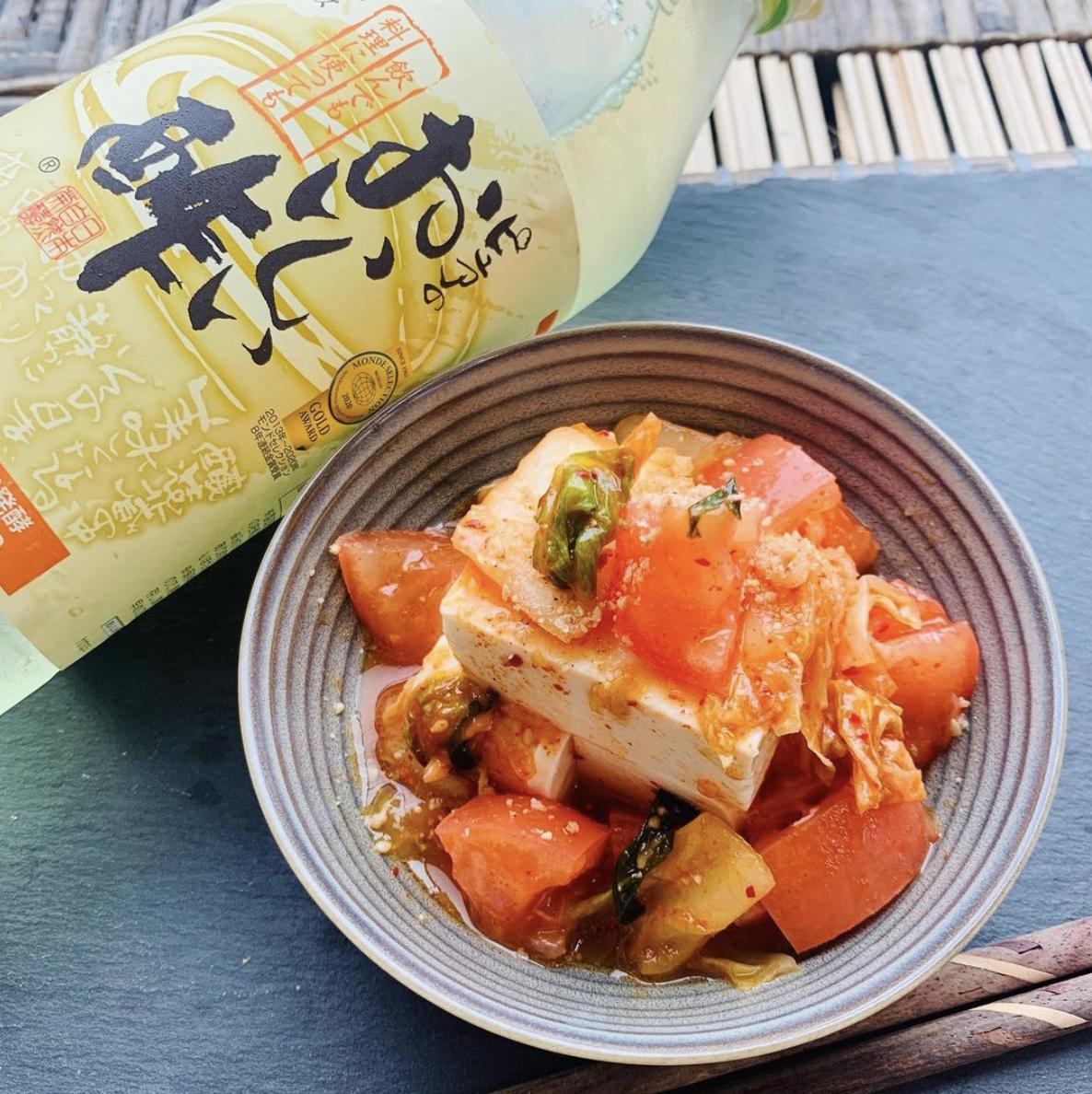 (レシピ)トマトキムチの冷奴