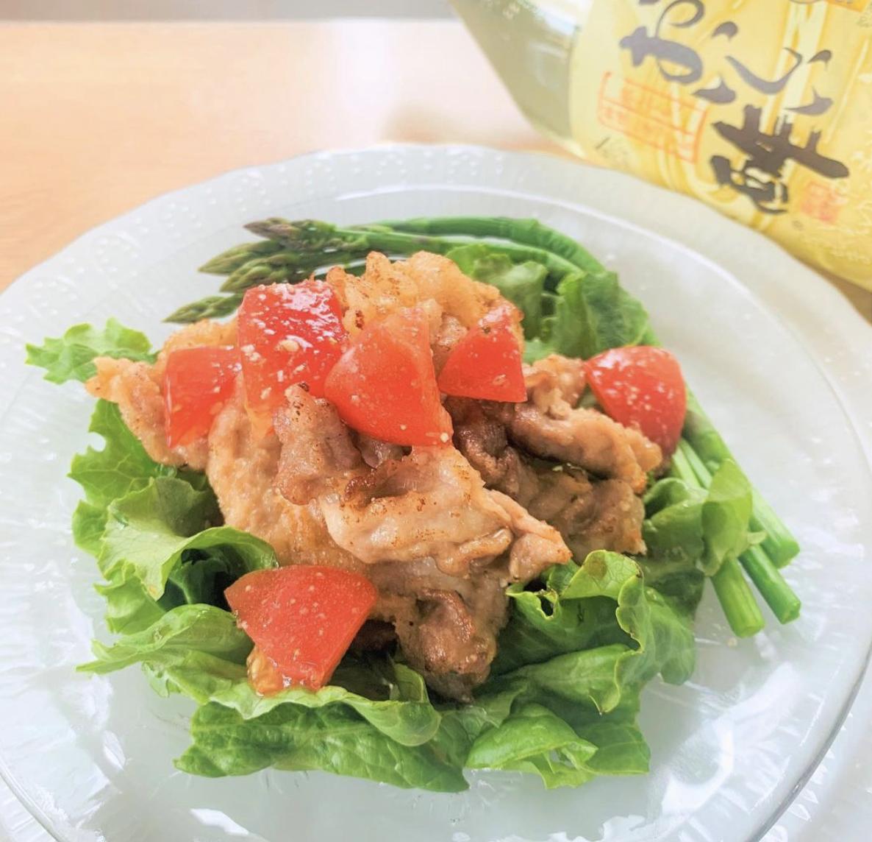 (レシピ)カリカリ豚の唐揚げ 和風トマトだれ